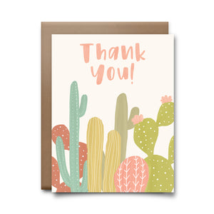 cactus thank you | greeting card