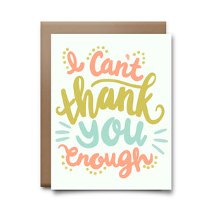 cant thank you enough | greeting card