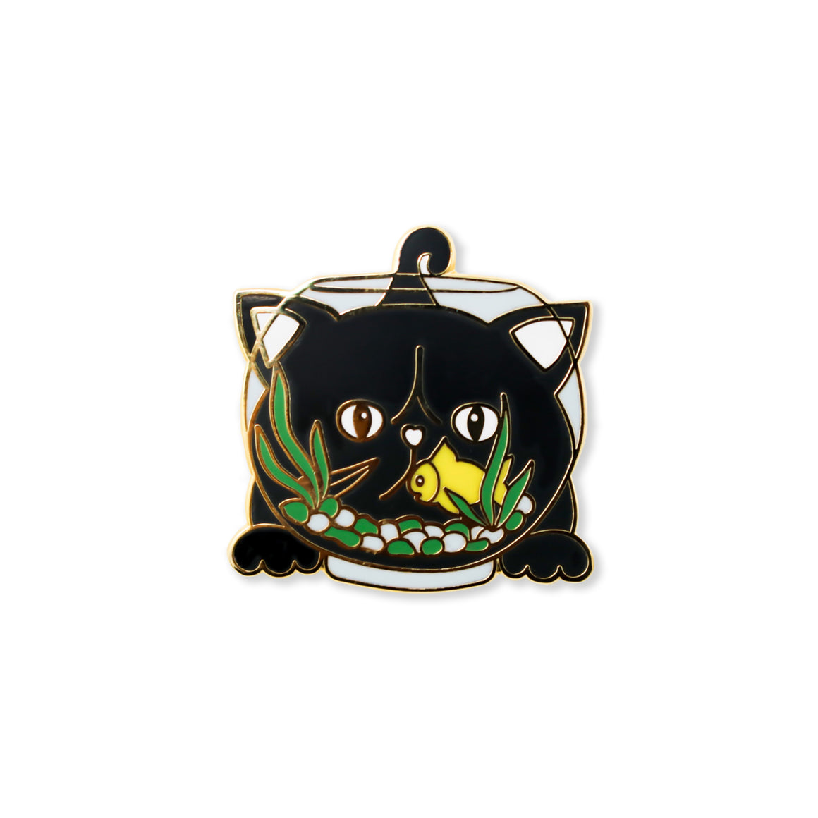 cat fish | enamel pin