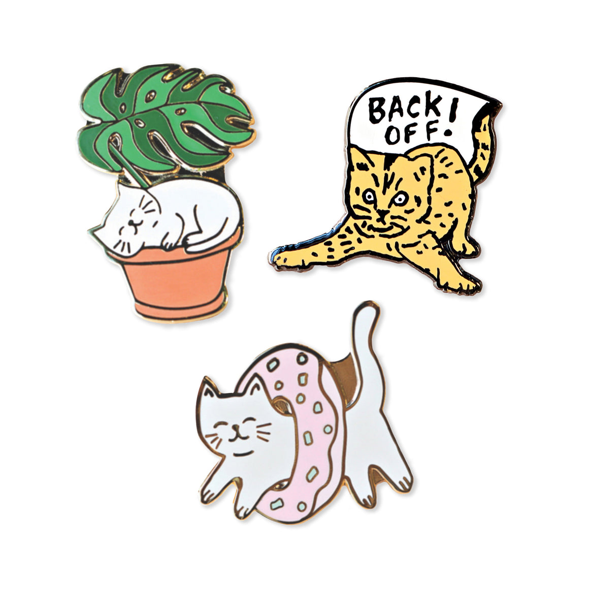 cat pack | enamel pin pack