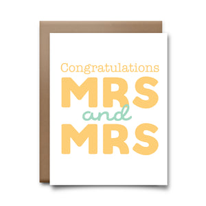 congrats mrs mrs  | greeting card