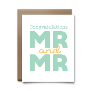 congrats mr mr  | greeting card
