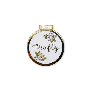 crafty | enamel pin