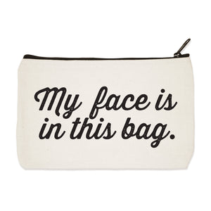 my face | zip pouch