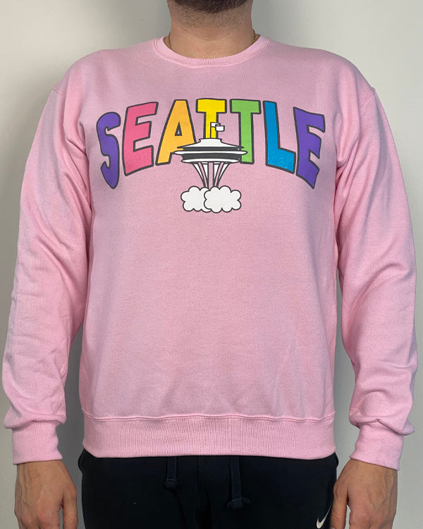 seattle needle pride | pink | crewneck