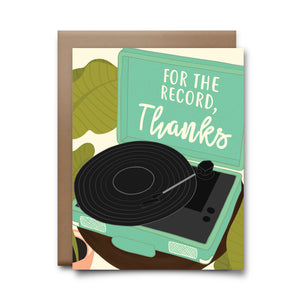record thanks | greeting card