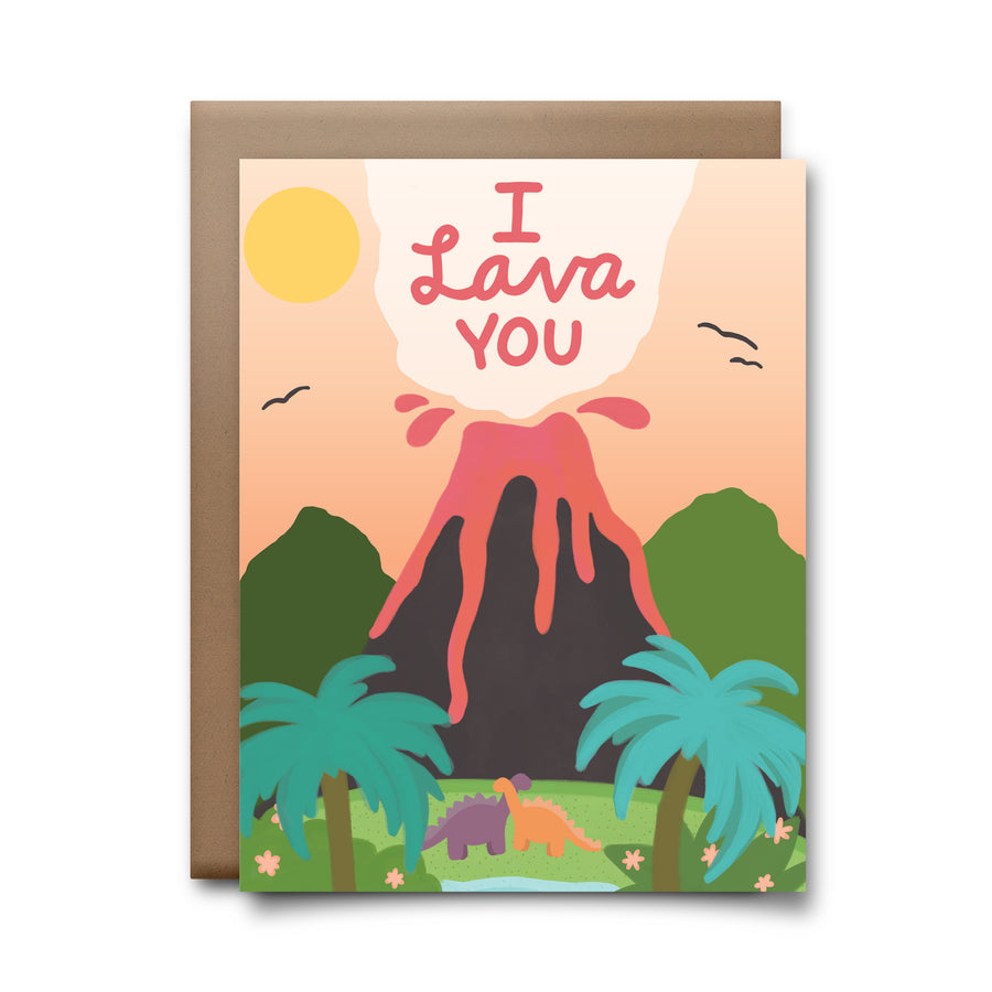 i lava you | greeting card