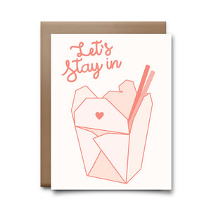 lets stay in | greeting card