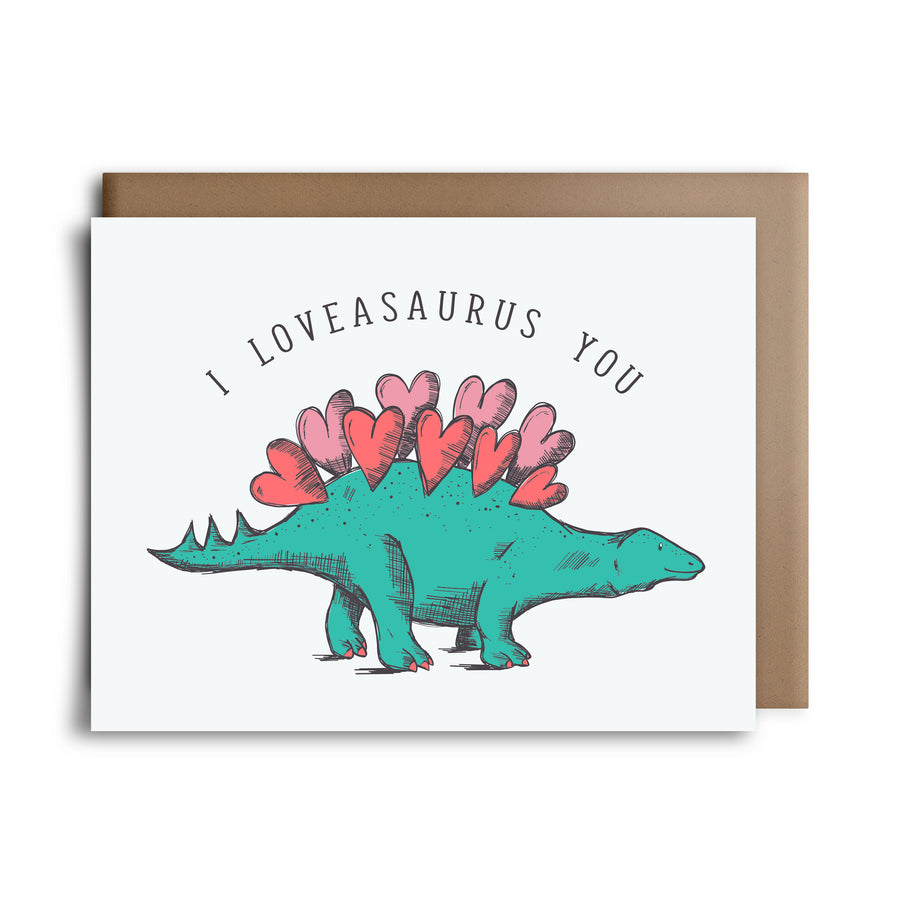 loveasaurus | greeting card