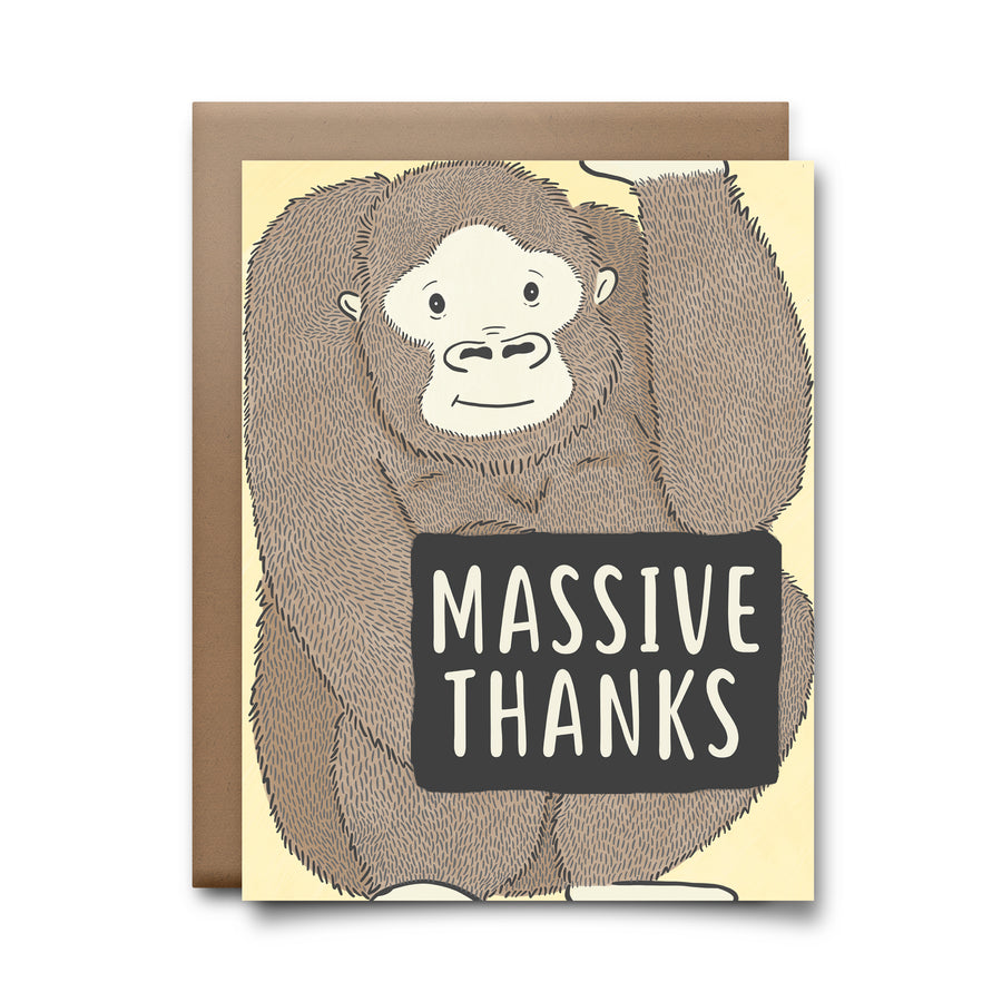 massive thanks | greeting card