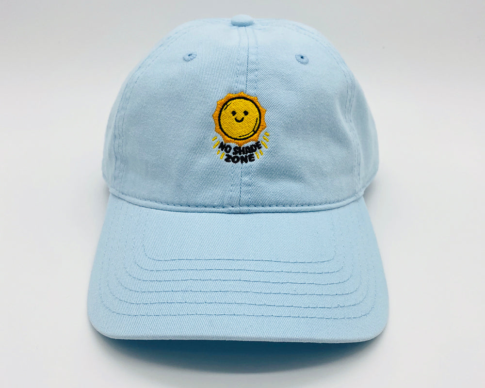 no shade zone | ice blue | dad hat
