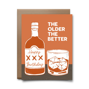 hbd older the better | greeting card