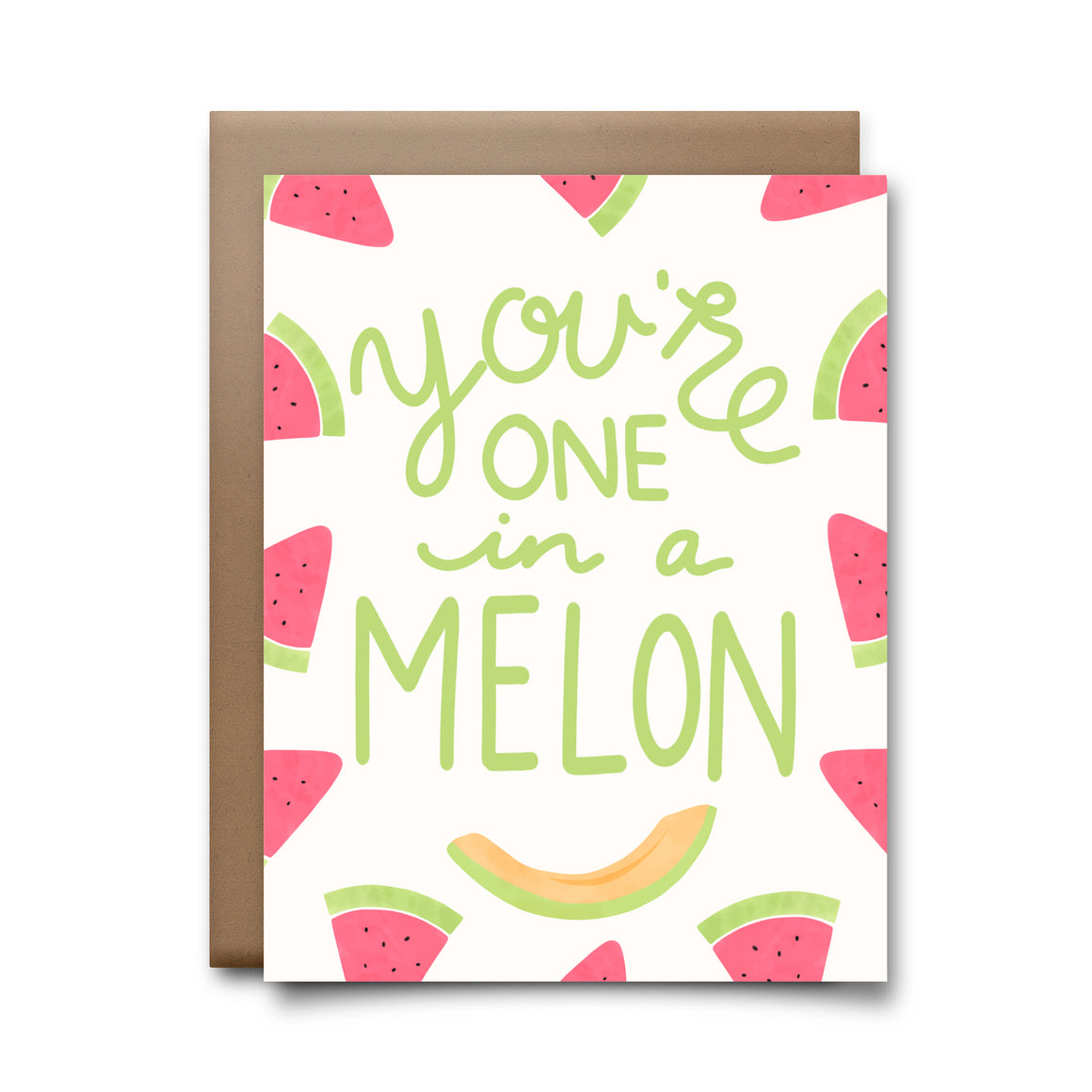 one in a melon | greeting card