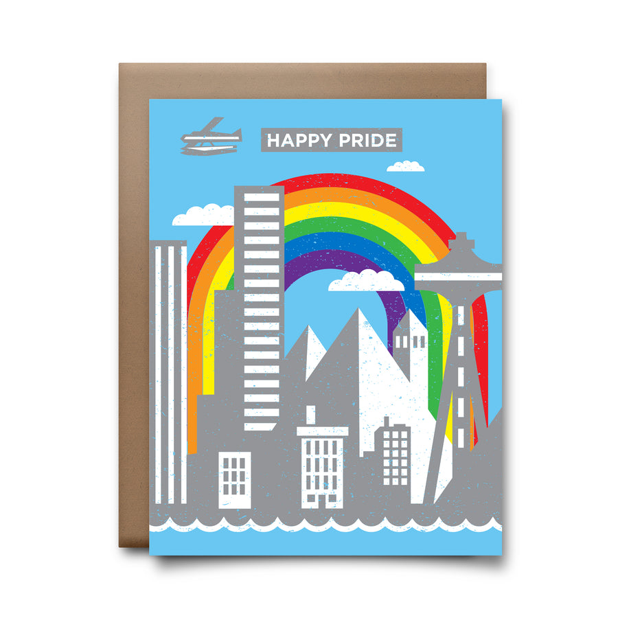 seattle skyline | greeting card