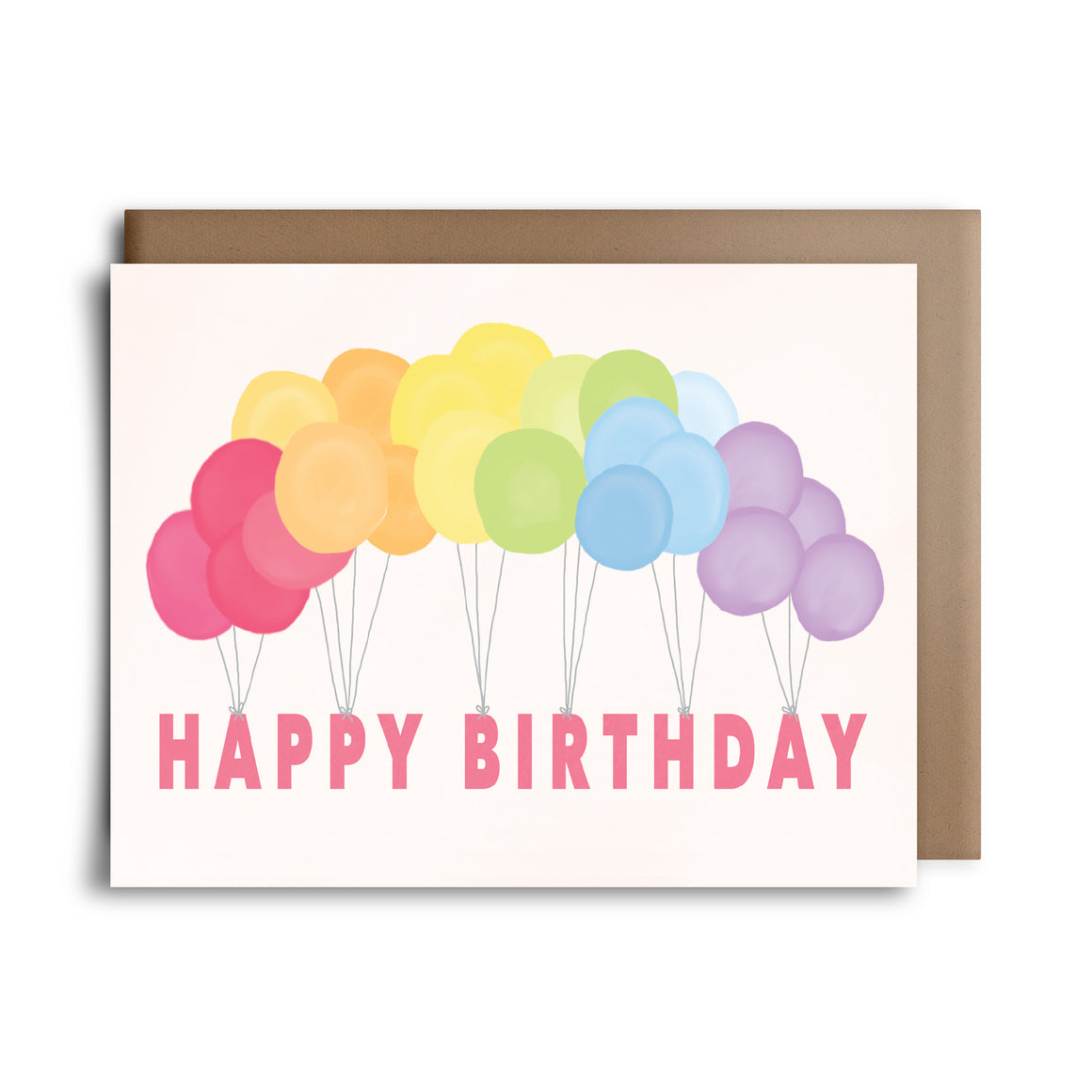 rainbow balloons | greeting card