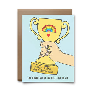 second best boyfriend  | greeting card