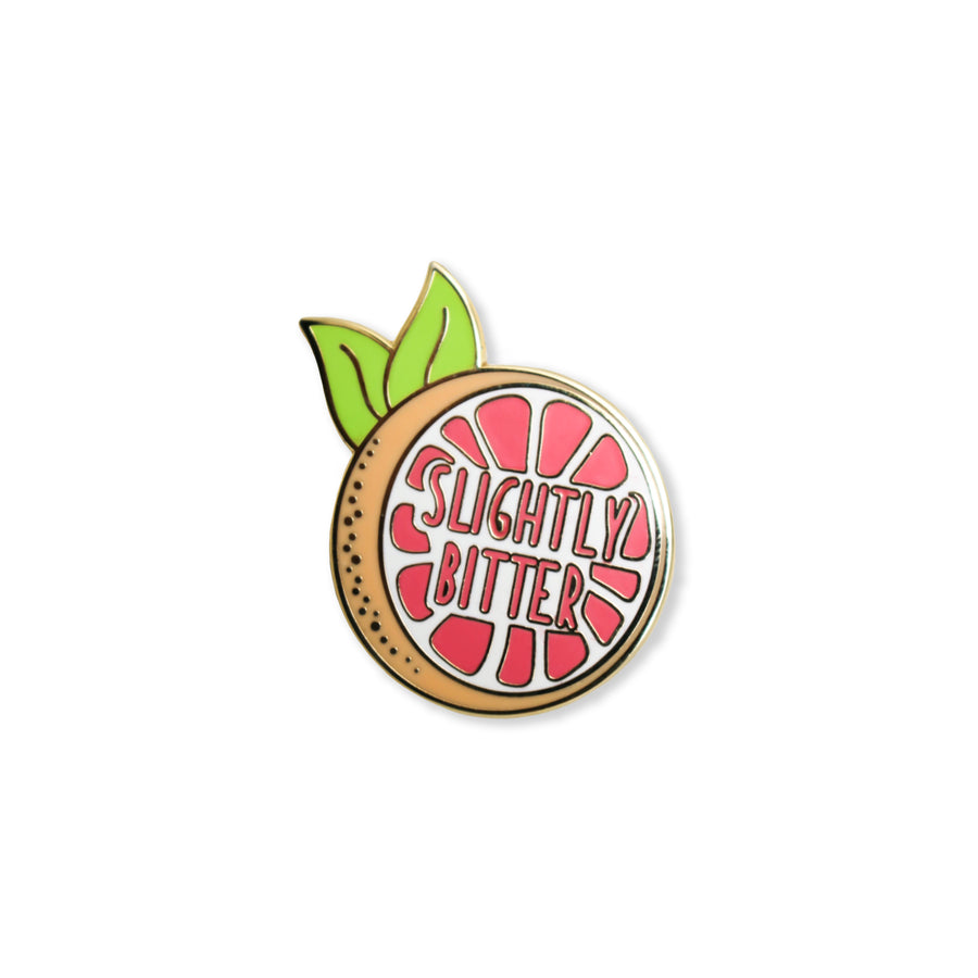 slightly bitter | enamel pin
