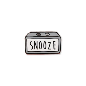 snooze | enamel pin