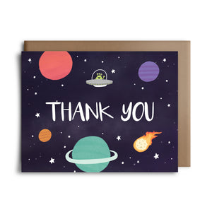 space thank you | greeting card