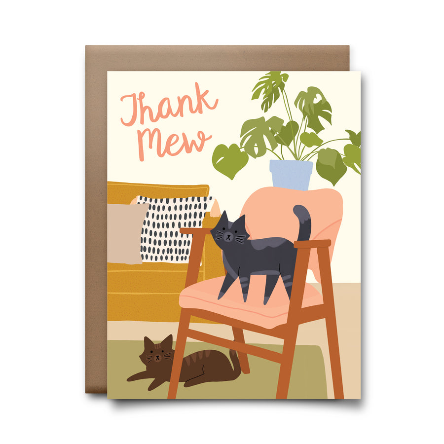 thank mew | greeting card