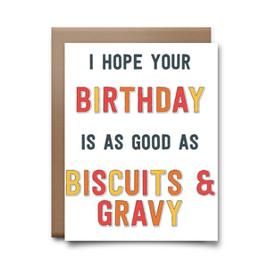 biscuits & gravy | greeting card