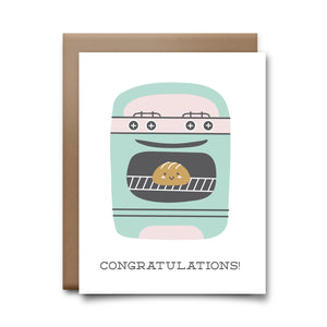 bun in oven | greeting card