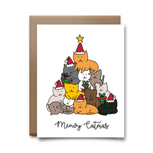 meowy catmas | greeting card