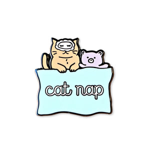 cat nap | enamel pin