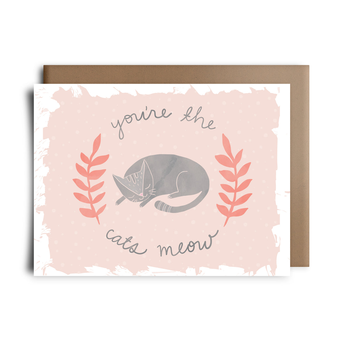 cats meow | greeting card