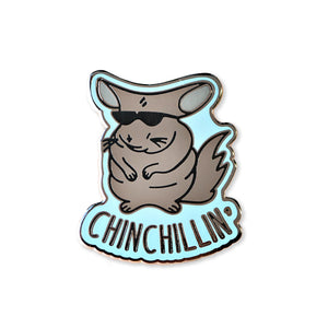 chinchillin | enamel pin