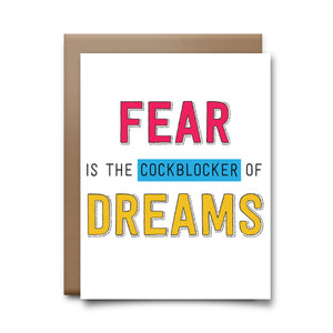 fear (cockblock) | greeting card