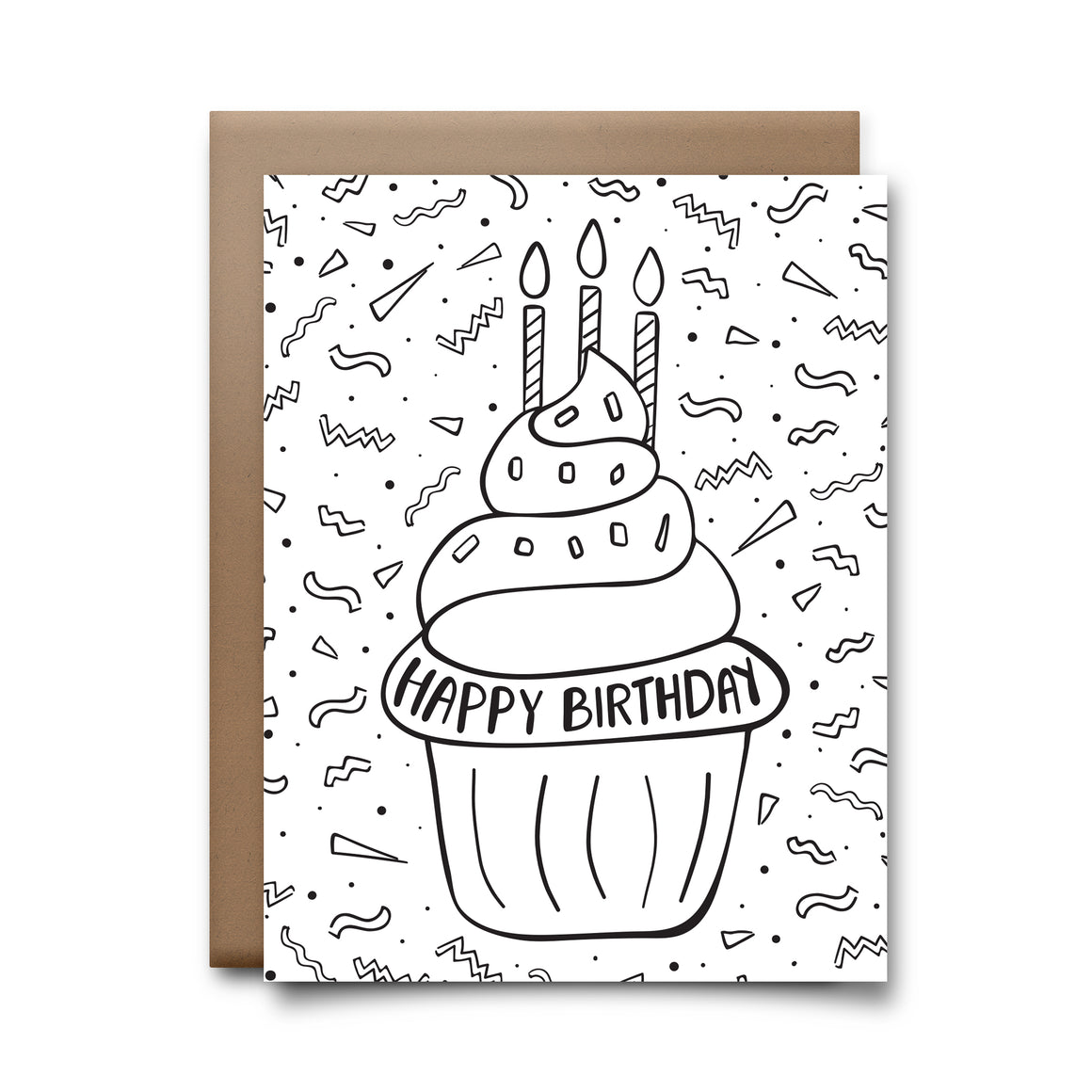 color cupcake | greeting card