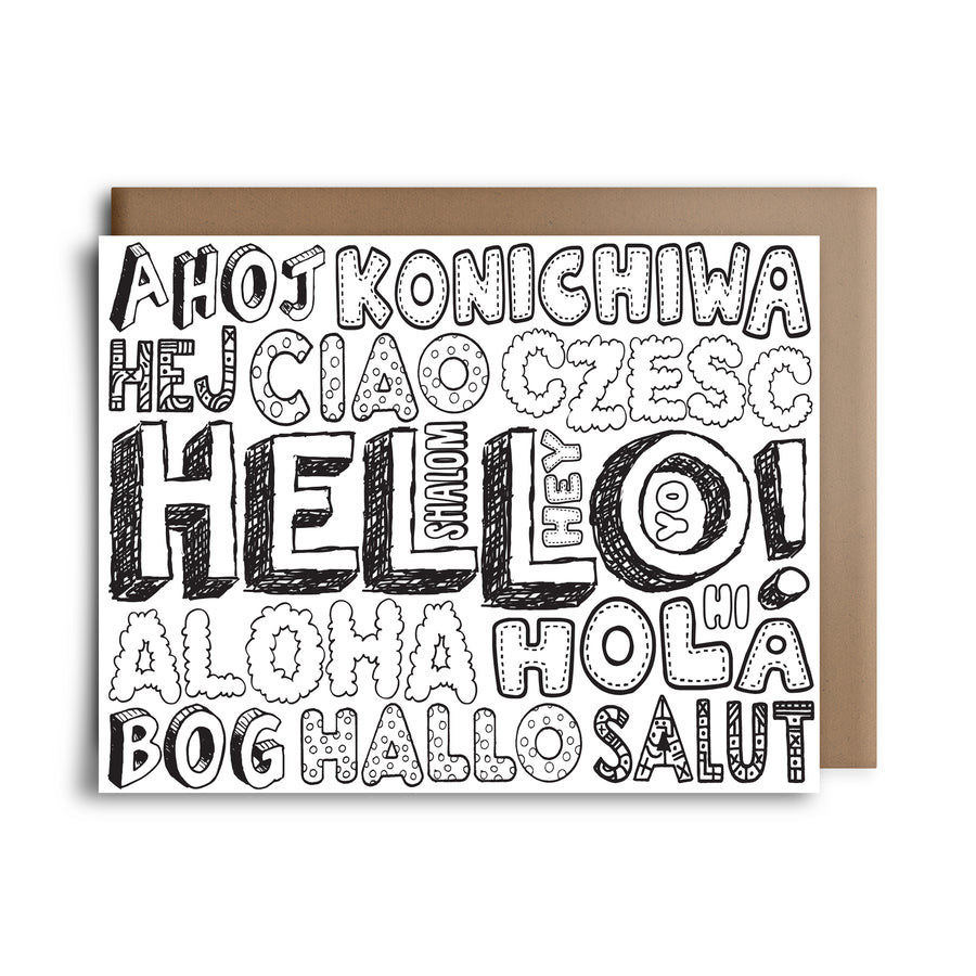 color hello | greeting card