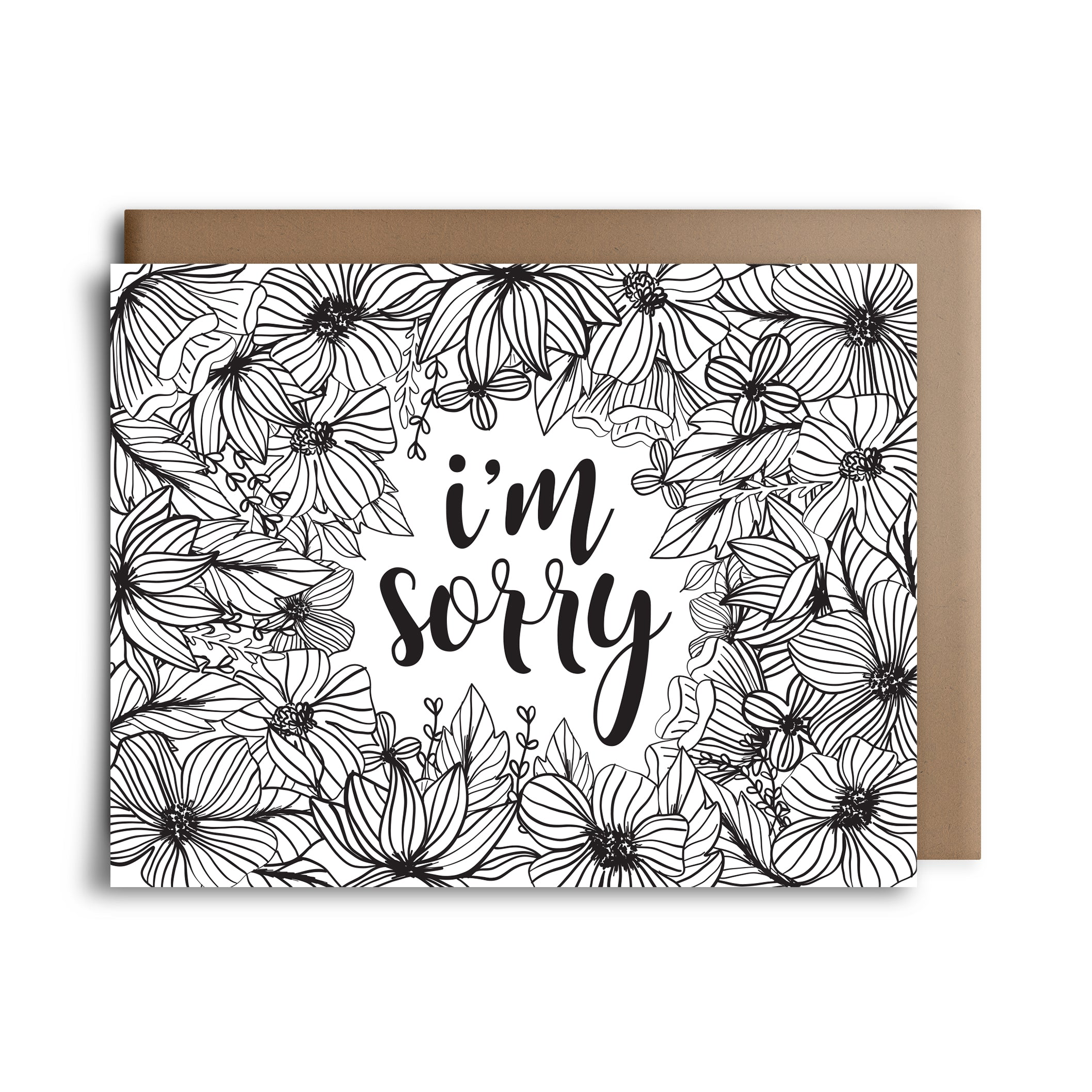color sorry | greeting card