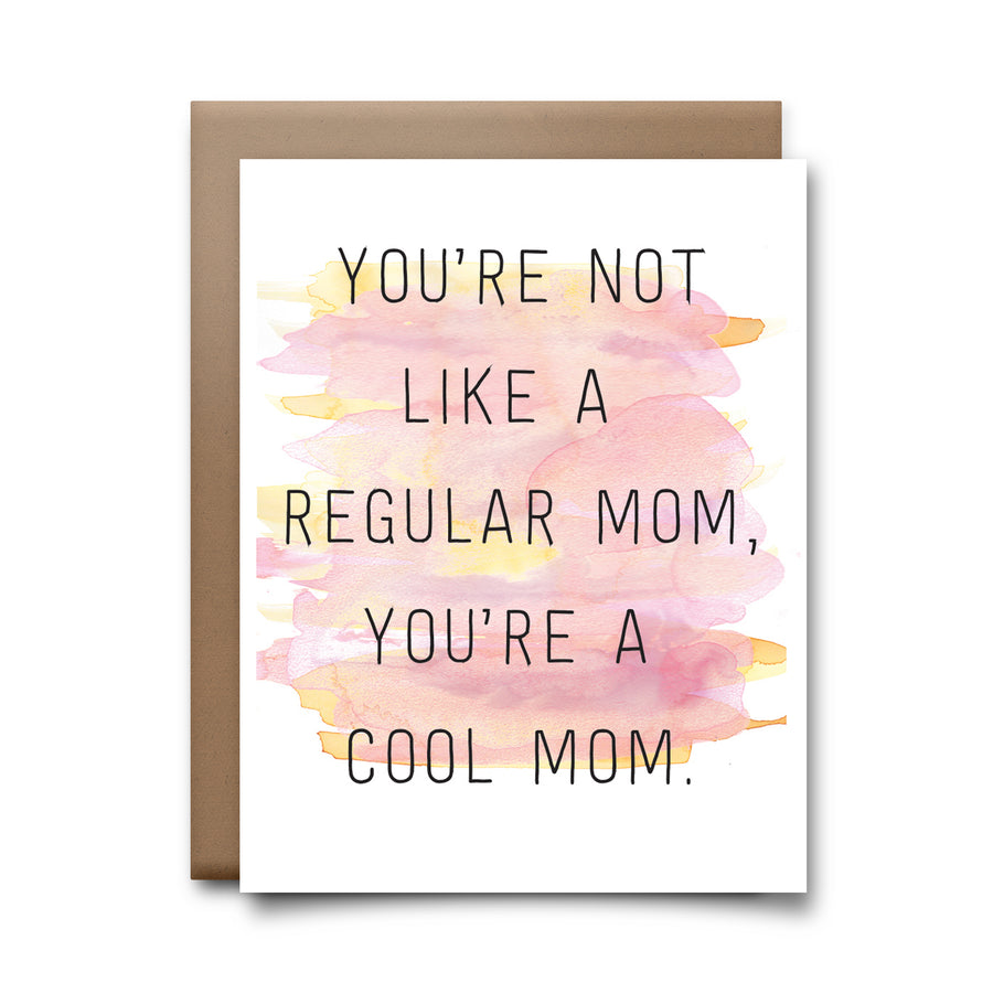 regular mom | greeting card