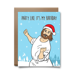 dancing jesus | greeting card