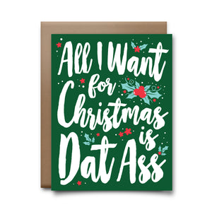 all i want for christmas | greeting card