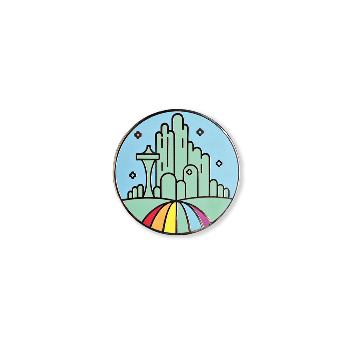emerald city | enamel pin