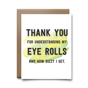 eye rolls | greeting card