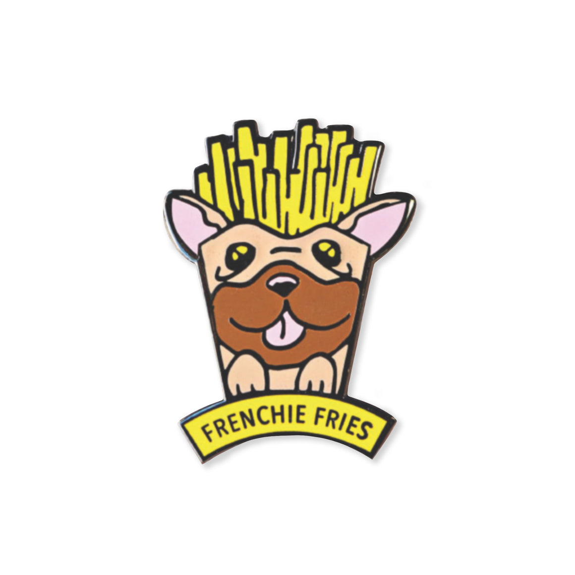 frenchie fries | enamel pin