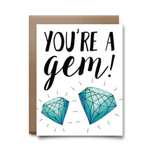 you're a gem | greeting card