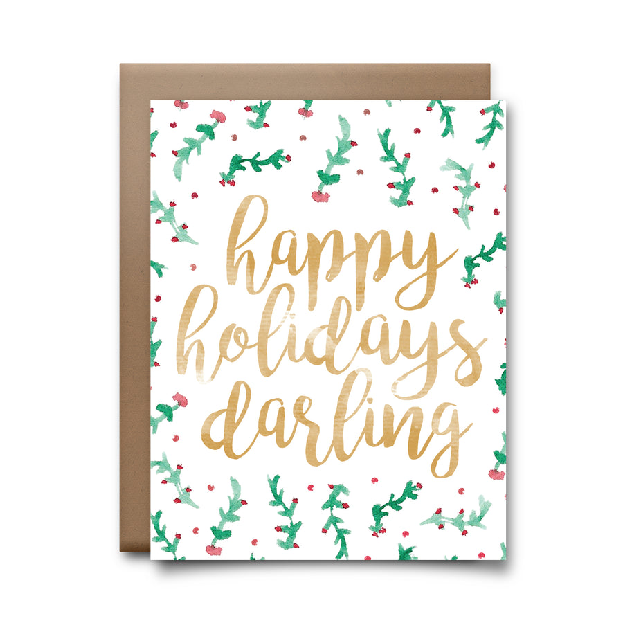 happy holidays darling | greeting card