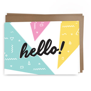 hello shapes pack | greeting card