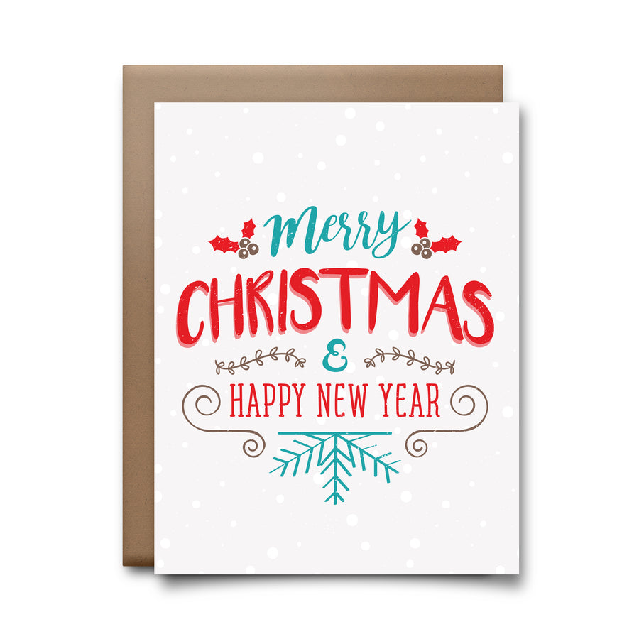 merry christmas | greeting card