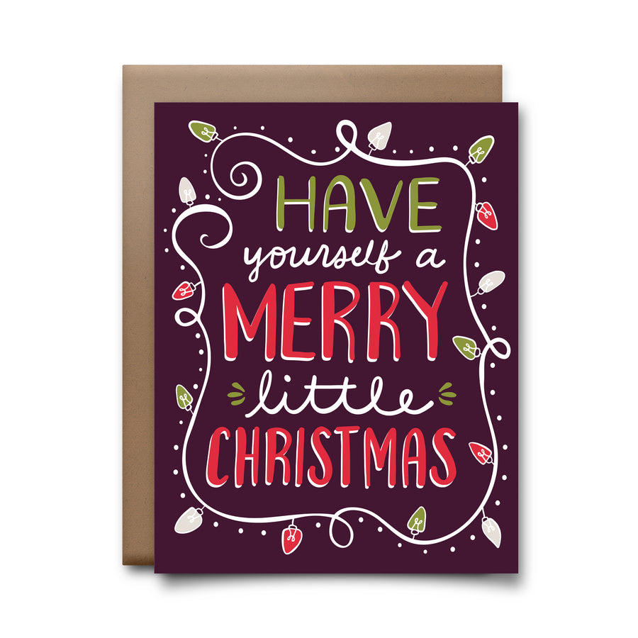 merry little | greeting card