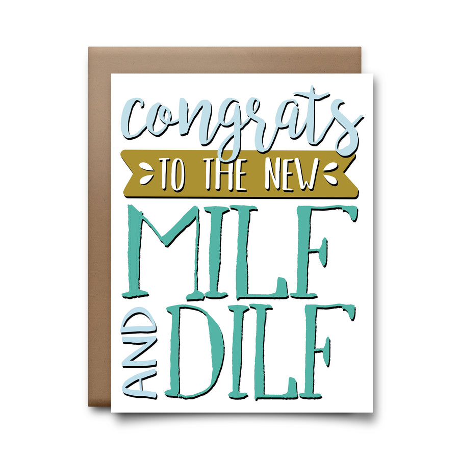 milf and dilf | greeting card