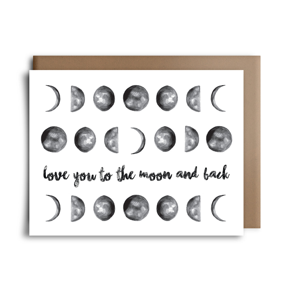 moon and back | greeting card