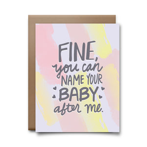 name your baby | greeting card