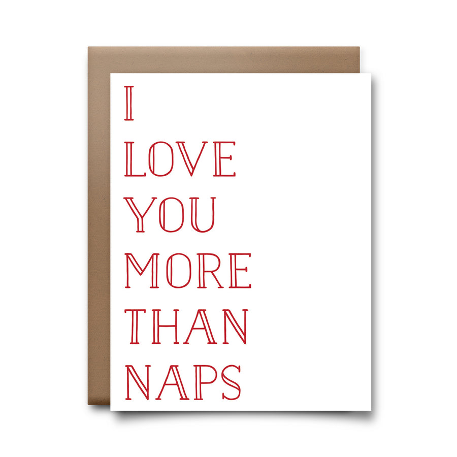 more than naps | greeting card