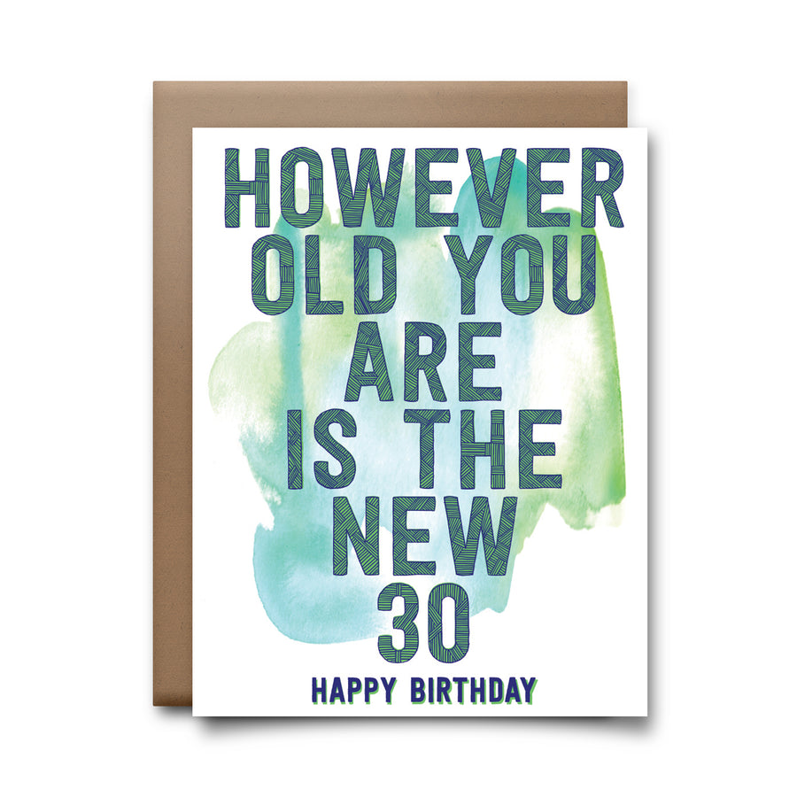 the new 30 | greeting card